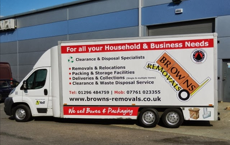 Browns Removals van